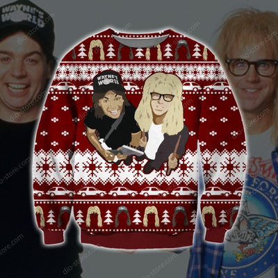 Wayne's World KNITTING PATTERN 3D PRINT UGLY CHRISTMAS SWEATER