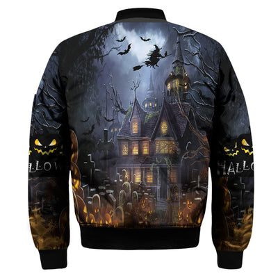 3D FULL OVER PRINTED BLACK CAT HALLOWEEN T SHIRT