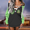 Alpha Kappa Alpha lace up criss cross V-neck sweater dress 01