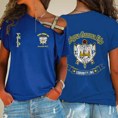 SIGMA GAMMA RHO ONE SHOULDER SHIRT 24320202