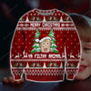 Ya Filthy Animal KNITTING PATTERN 3D PRINT UGLY CHRISTMAS SWEATER