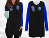 Zeta Phi Beta Loose Long Pattern Women Pocket Blouse 01