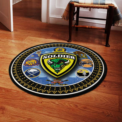 Buffalo Soldiers ROUND CARPET 1372020