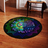 I AM THE STORM QUOTE IN THE MANDALA BACKGROUND HIPPIE ROUND CARPET