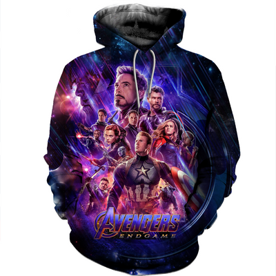 3D All Over Printed Avengers- End Game T- Shirt Hoodie