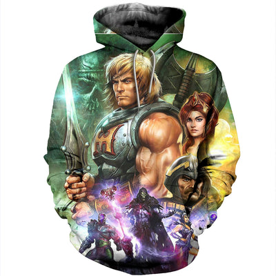 3D printed He-Man and the Masters of the Universe Hoodie T shirt
