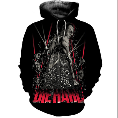 3D All Over Printed Die Hard T-Shirt Hoodie