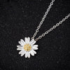Charming Silver Tiny Daisy Flower Necklace For Women