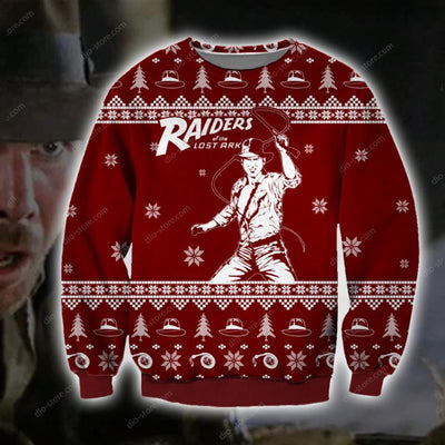 Raiders of the Lost Ark KNITTING PATTERN 3D PRINT UGLY CHRISTMAS SWEATER