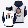 3D ALL OVER PRINTED MILLER LITE HOODIE