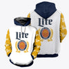 3D ALL OVER PRINTED MILLER LITE HOODIE 2