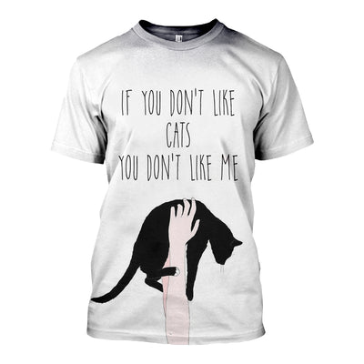 3D FULL OVER PRINTED CAT LOVER T SHIRT