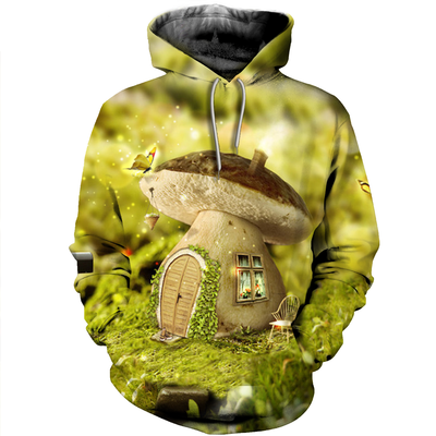 3D All Over Printed Mushroom T Shirt Hoodie 27220192