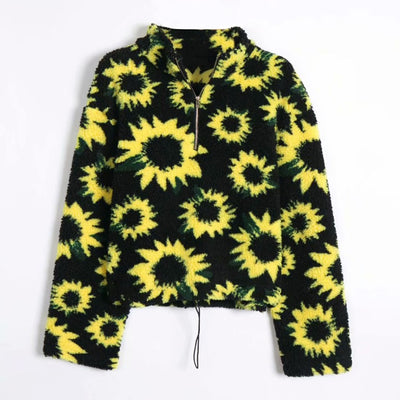 winter warm pullover sunflower long sleeve