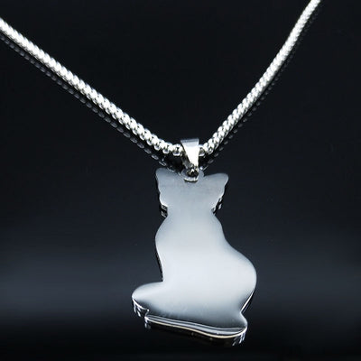 STAINLESS STEEL SPHYNX CAT GORGEOUS NECKLACE FOR GIFT