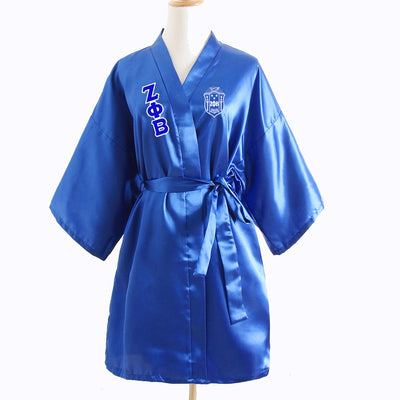 Zeta Phi Beta Silk Satin Bathrobe