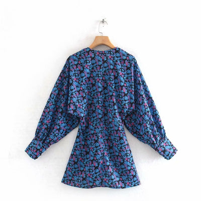 Women Roomy Long Sleeve Floral Print Dress
