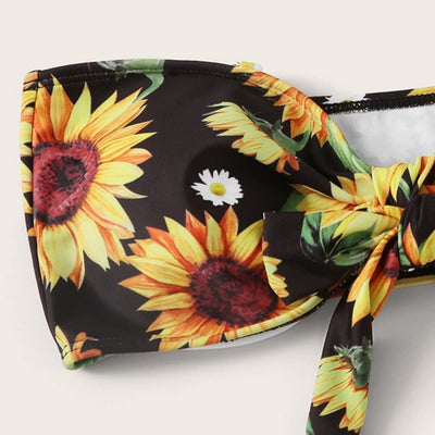 Swimming Clothes Swimsuits Women Sexy Sunflower