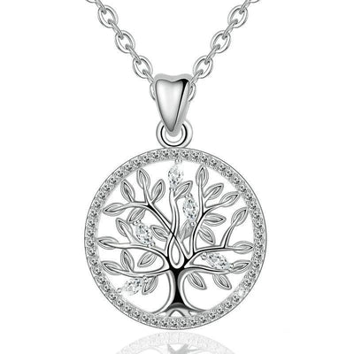 STERLING SILVER TREE OF LIFE PENDANT UNISEX NECKLACE