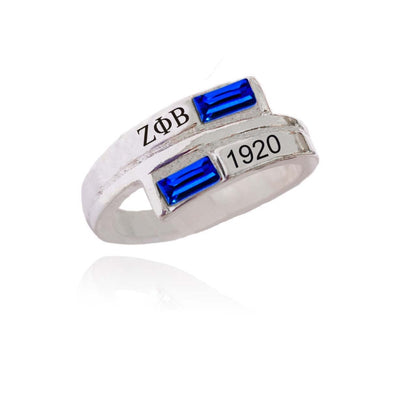 Zeta Phi Beta 1920 sorority letter finger ring