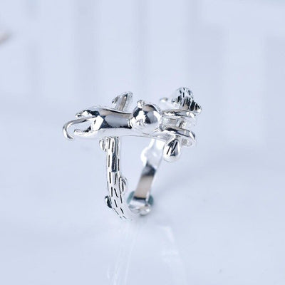 New arrival Cute Tiny Cat Resizable finger Ring for Women