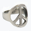 STAINLESS STEEL PEACE SIGN UNISEX RING