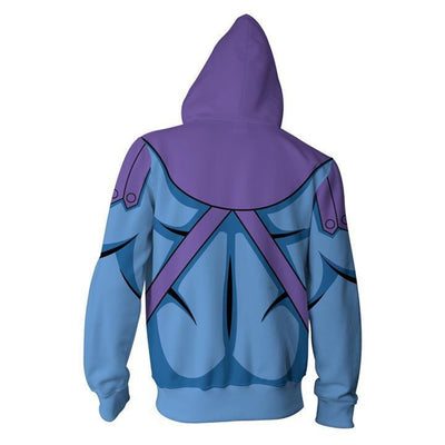 3D Printed Skeletor - Master of the Universe Zip Up Hoodie