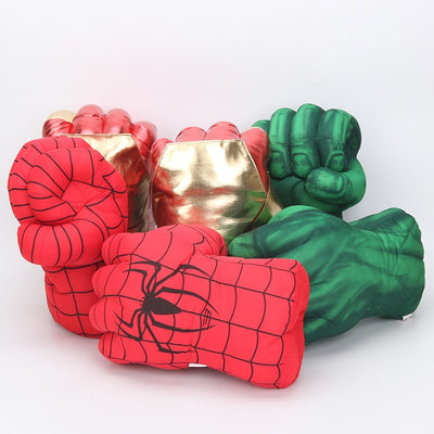 The Avengers Superhero Figure Plush Spider man the Hulks toys Iron Man boxing Gloves