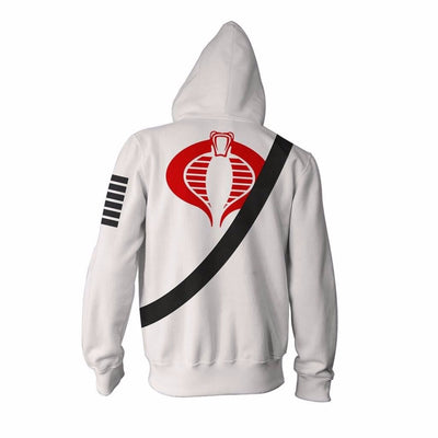 3D printed GI Joe Zipper Hoodies tops