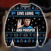 Live Long And Prosper KNITTING PATTERN 3D PRINT UGLY CHRISTMAS SWEATER