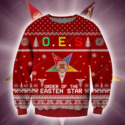 Order Of The Eastern Star KNITTING PATTERN 3D PRINT UGLY CHRISTMAS SWEATER