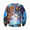 3D printed He-Man and Skeletor Hoodie T shirt
