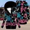 Hawaii fleece sleeve zipper hoodie outerwear 2