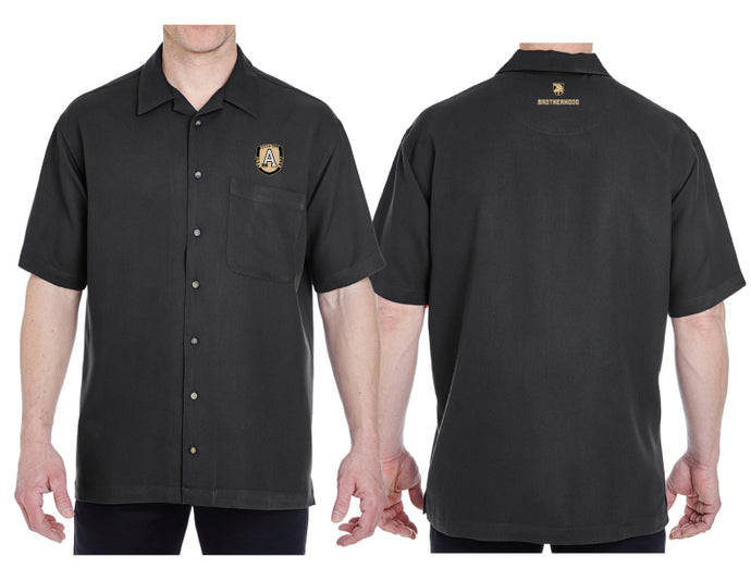 UltraClub Black Camp Shirt