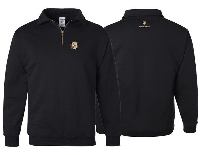 UltraClub Black Cool & Dry Sport 1/4 Zip Pullover