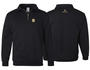 Jerzees 9.5 oz. Black  Quarter-Zip Pullover Fleece