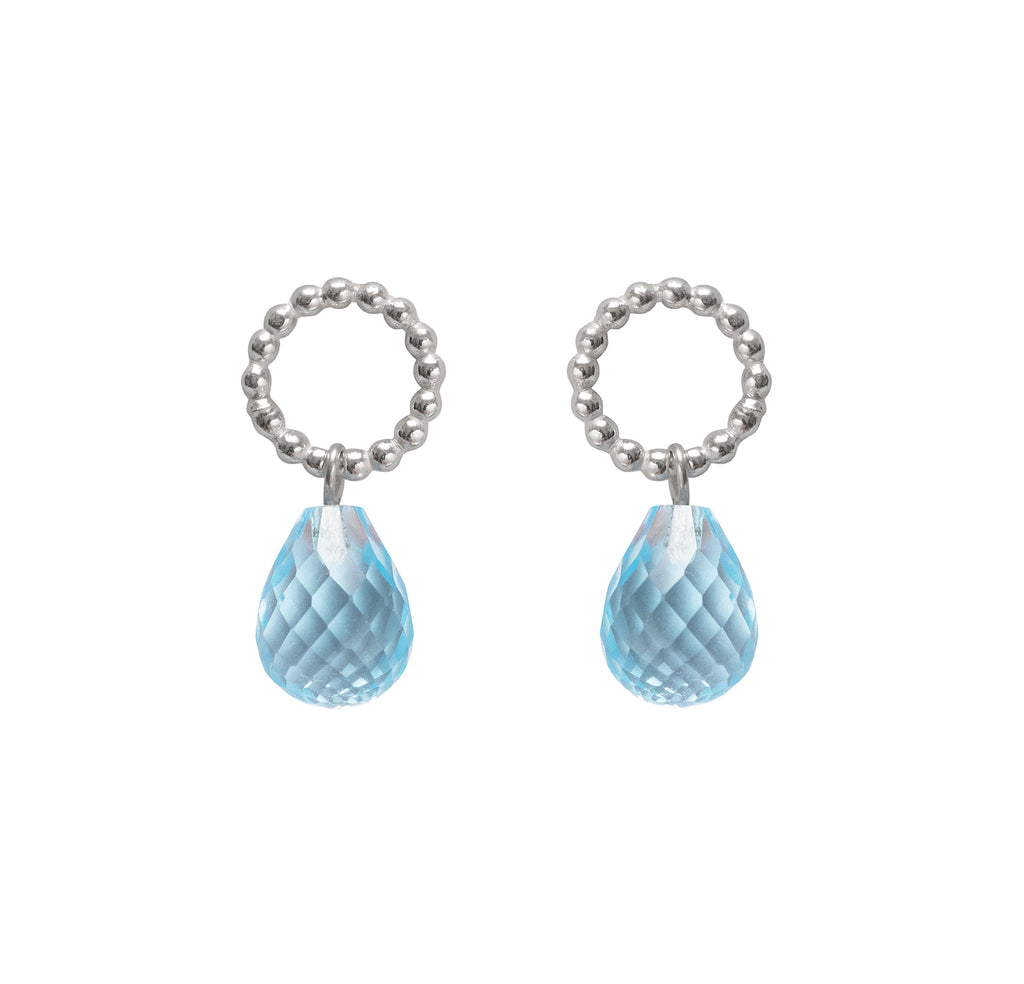Beaded Topaz Drops - The Aura Collection