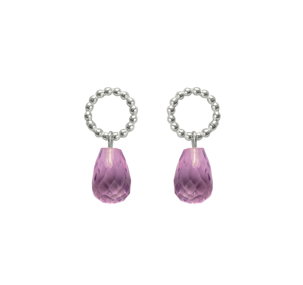 Beaded Amethyst Drops - The Aura Collection