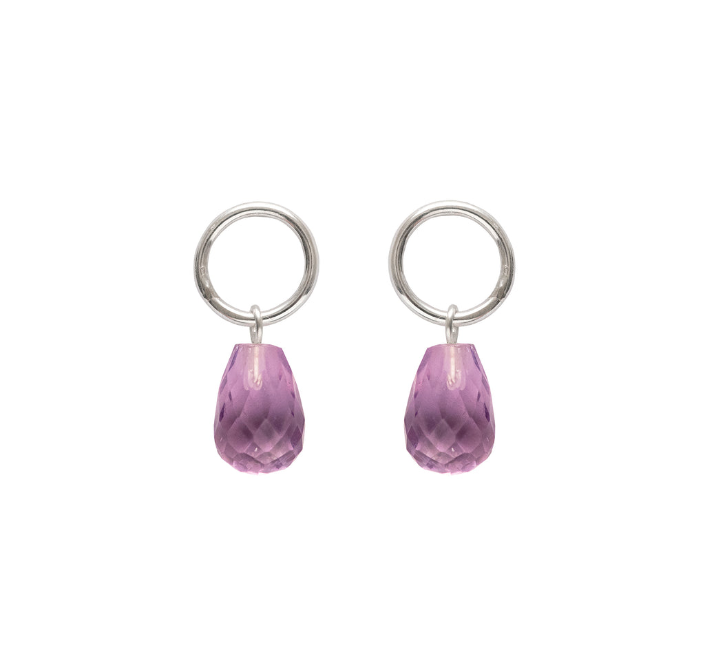 Round Amethyst Drops - The Aura Collection