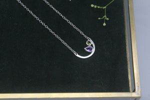 Amethyst and Tourmaline Aura Necklace