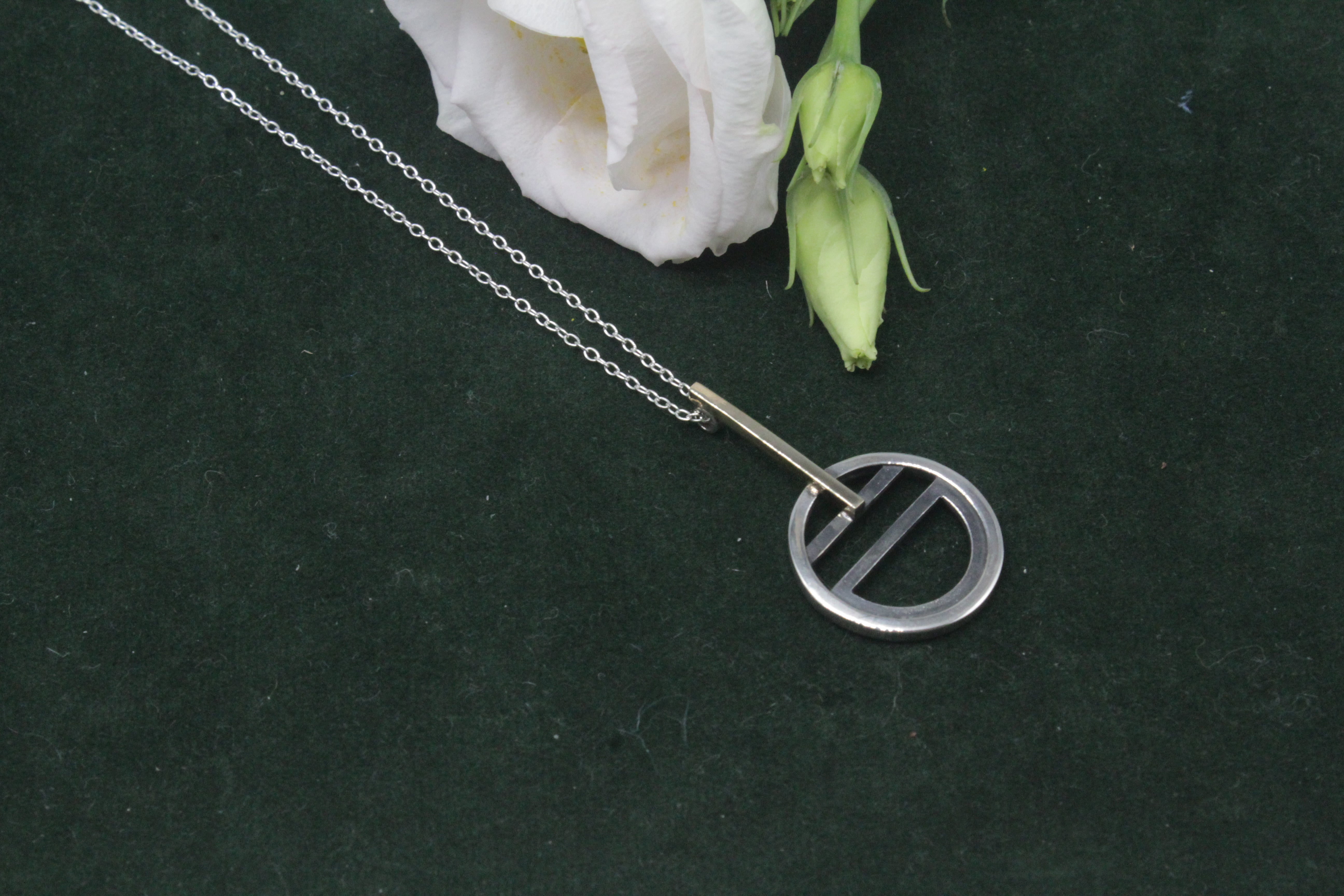 the Tri-Tangent Necklace - the Tangent Collection