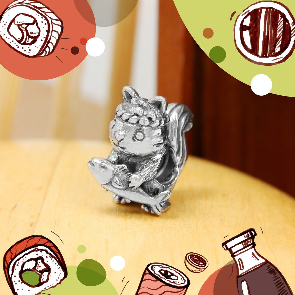 Squirrel Sushi Chef Bead
