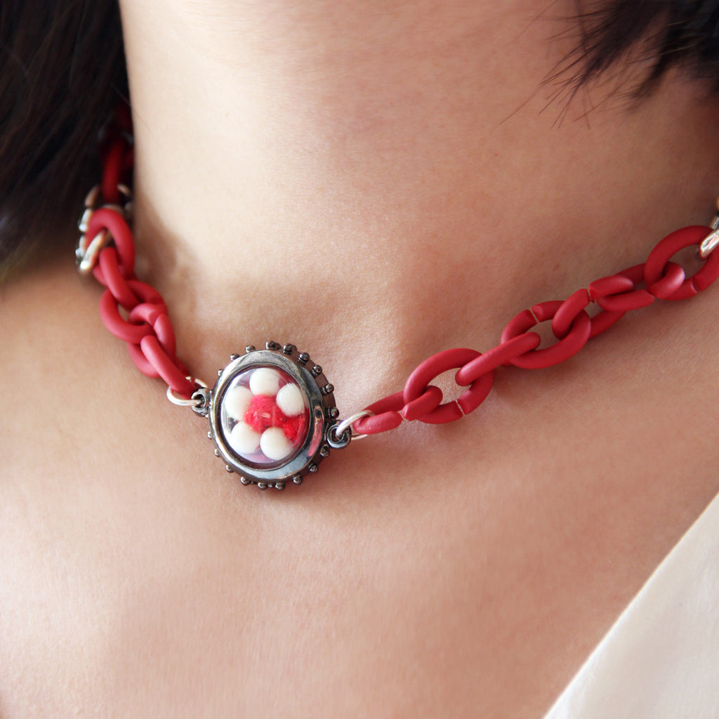 Red Lucky Thread Charm Amulet Set
