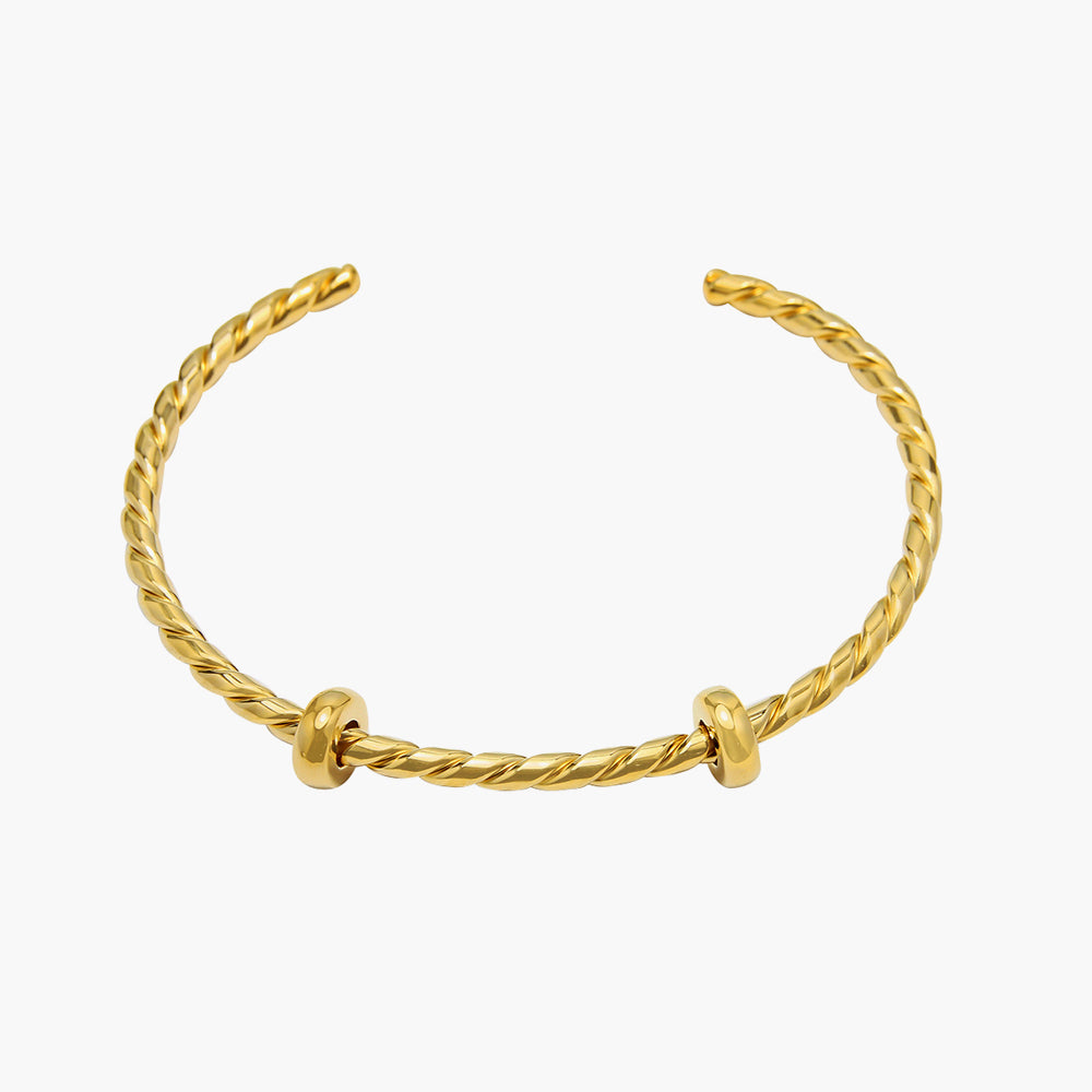 Open Bangle Twisted Gold