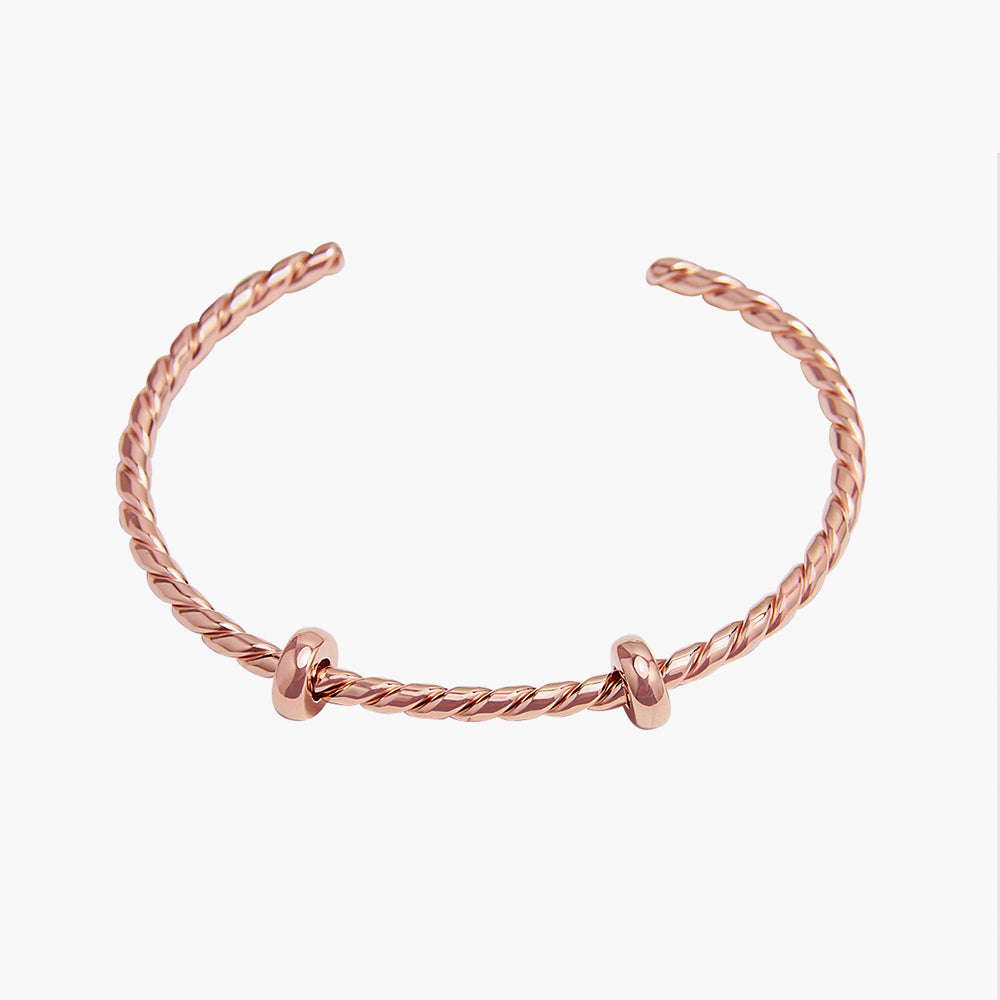 Open Bangle Twisted Rose Gold