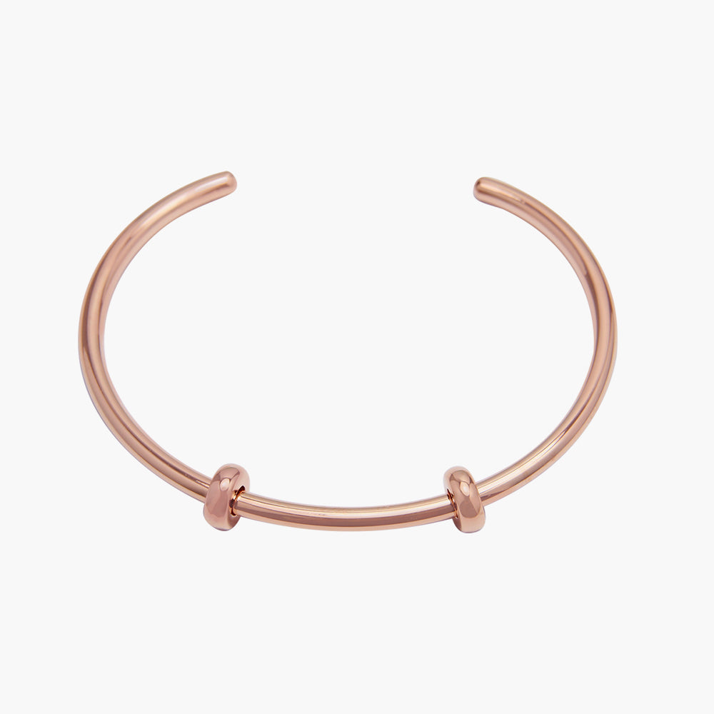 Open Bangle Smooth Rose Gold