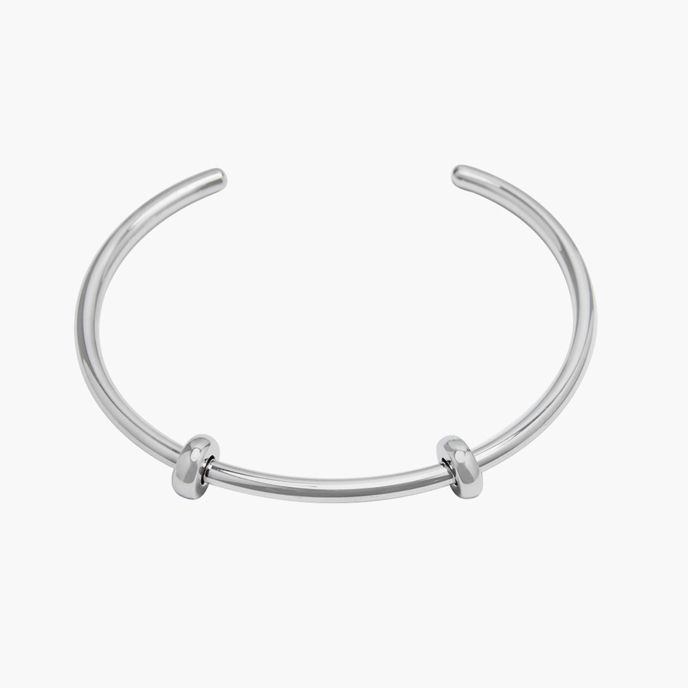 Open Bangle Smooth Silver