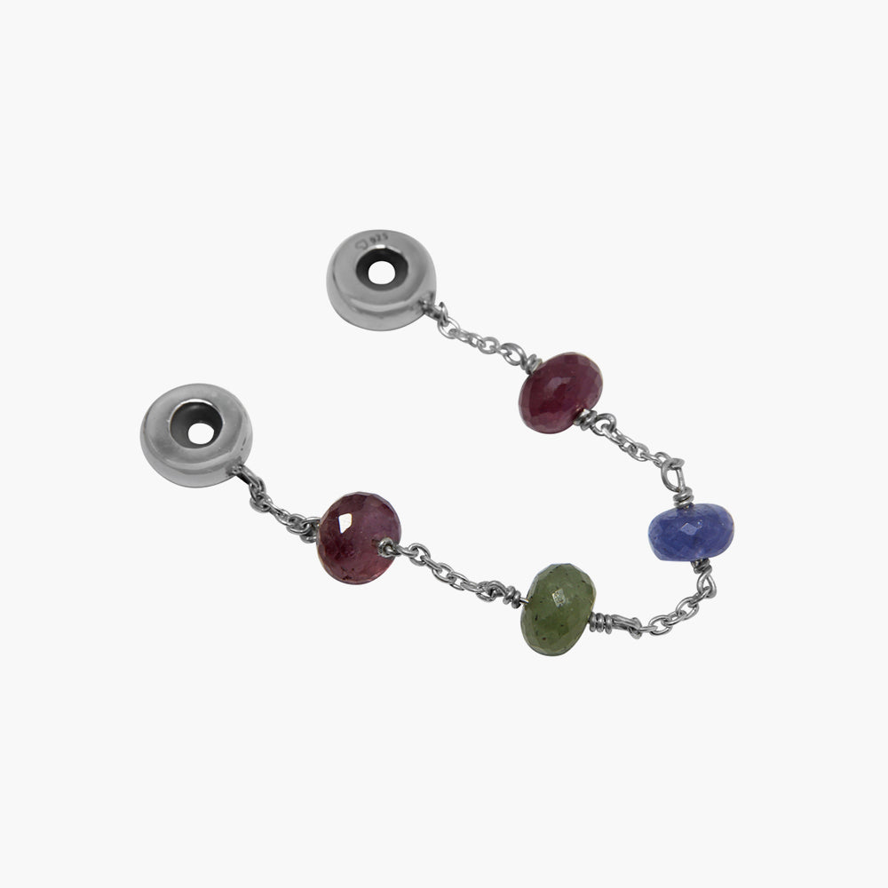 Mixed Sapphire Stopper (New Open Bangle)