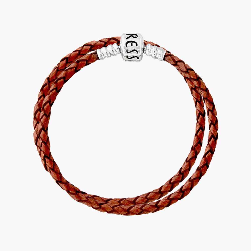 Double Leather Bracelet Brown