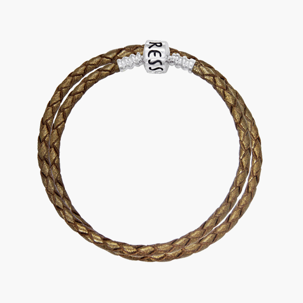Double Leather Bracelet Bronze